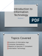 Intro to Info Tech