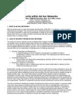 Security Within Adhoc Paper