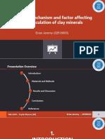 Mekanisme Faktor yang Memengaruhi Bioflokulasi Clay Mineral (Tugas Topik Khusus)