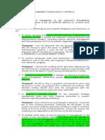 Management Consultancy Agreement