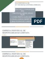 Empresa Individual de Responsabilidad Limitada DIAPOSITIVAS 1.0