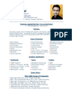 Fahad Iqbal CV Manager Accounts & Taxation