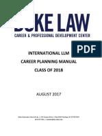 Llm Career Manual 2017-2018