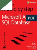 Microsoft® Azure™ SQL Database Step by Step.pdf