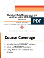 Statistical Data Management and Analysis Using MS EXCEL_CHAP_1
