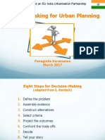 Decision making for urban planning