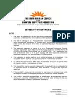 2014 - Employer Letter of Undertaking