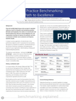 Camp Best Practice Benchmarking the Path to Excellence