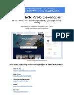 Kelas Online Full-Stack Web Developer