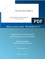 L'economia italiana nel 3° trimestre 2019
