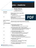 Resume Format for Doctors PDF