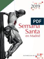 Programa Semana Santa 2019  - Archidiocesis de Madrid