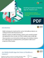 Building Exceptional Mobile App for Patient Care
