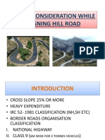 SPECIAL CONSIDERATION WHILE ALIGNING HILL ROAD