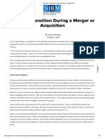 Benefits Transition During a Merger or Acquisition