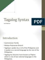 Tagalog Syntax