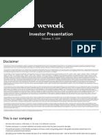 WeWork Investor Presentation—October 2019