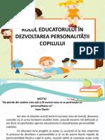 prezentare rolul educatorului