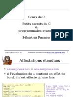 Cours de C. Petits Secrets Du C & Programmation Avancée. Sébastien Paumier