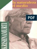 Libro Sobre La Naturaleza y El Medio (Jiddu Krishnamurti)
