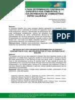 METODOLOGIA PARA DETERMINAÇÃO CONTÍNUA DO CONSUMO ESPECÍFICO POR COMBUSTÍVEL E PRIORIZAÇÃO DA DISTRIBUIÇÃO DE COMBUSTÍVEIS ENTRE CALDEIRAS