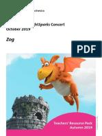Zog Teachers Pack - KS1 BrightSparks Autumn 2019 With Music