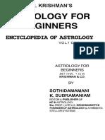 K P Krishman s Astrology for Beginners Encyclopedia of Astrology Vol 1