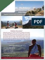 Climbing Mt. Oloolokwe