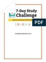 7 day study challenges