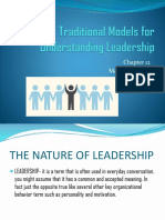 Traditional Models for Understanding Leadership