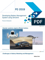 Developing Battery Management System Using Simulink Expo 2019