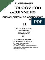 K P Krishman s Astrology for Beginners Encyclopedia of Astrology Vol 2