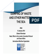 Dumping of waste
