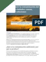 Cómo Reducir La Contaminación Del Aire en Las Ciudades