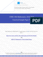 Class 10th Mathematics Unsolved Sample Paper IV