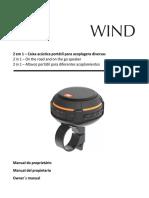 JBL JBL WIND - PRETO 28910851 Manual Portuguese