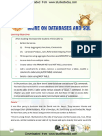 CBSE Class 12 Informatic Practices Databases and SQL