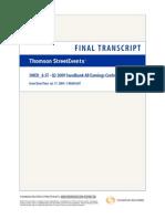 Q2 2009 Transcript Tel conf