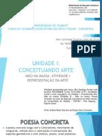 Universidade de Taubaté - Poesia Concreta