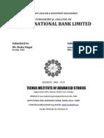 Fundamental Analysis of Pnb Ltd.