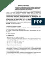TDR Estudio Hidrogeologico Para Disponibilidad Hidirca Subterranea Segun ANA Con Perforacion de Pozo Esxploratorio 2019