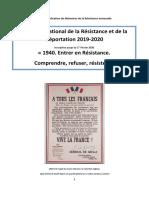 Livret CNRD 2019-2020- Concours National de la Résistance et de la Déportation