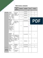 Matriz técnica  evaluación 1°