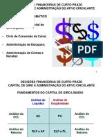 Decisões Financeiras de Curto Prazo