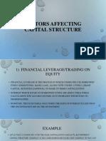 Factors Affecting Capital Structure