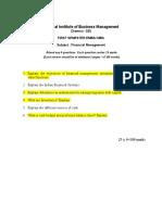 Exm_32142 Finance Management