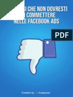 [CONTENUTO] 12 Errori Che Non Devi Mai Commettere Nelle Facebook Ads
