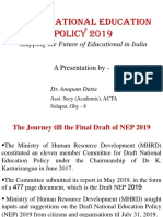 Draft National Education Policy 2019 - PRESENTATION