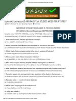 NTS MCQS of General Knowledge & PAKISTAN STUDIES.pdf