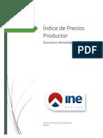 Indice de Precios Productor Metodologia Ultima